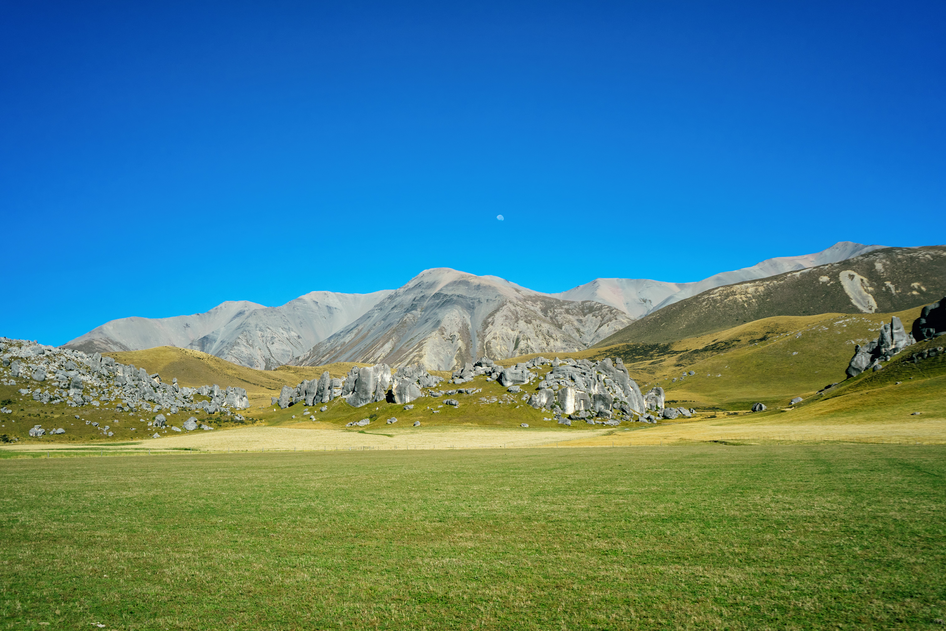 Castle Hill With Moon