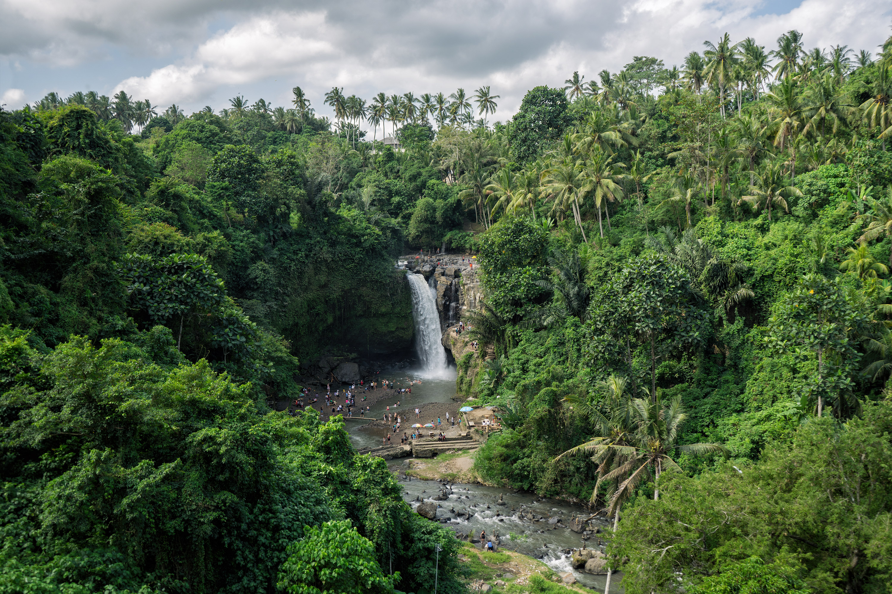 Bali Ubud Tegenungan Waterfall View From Above