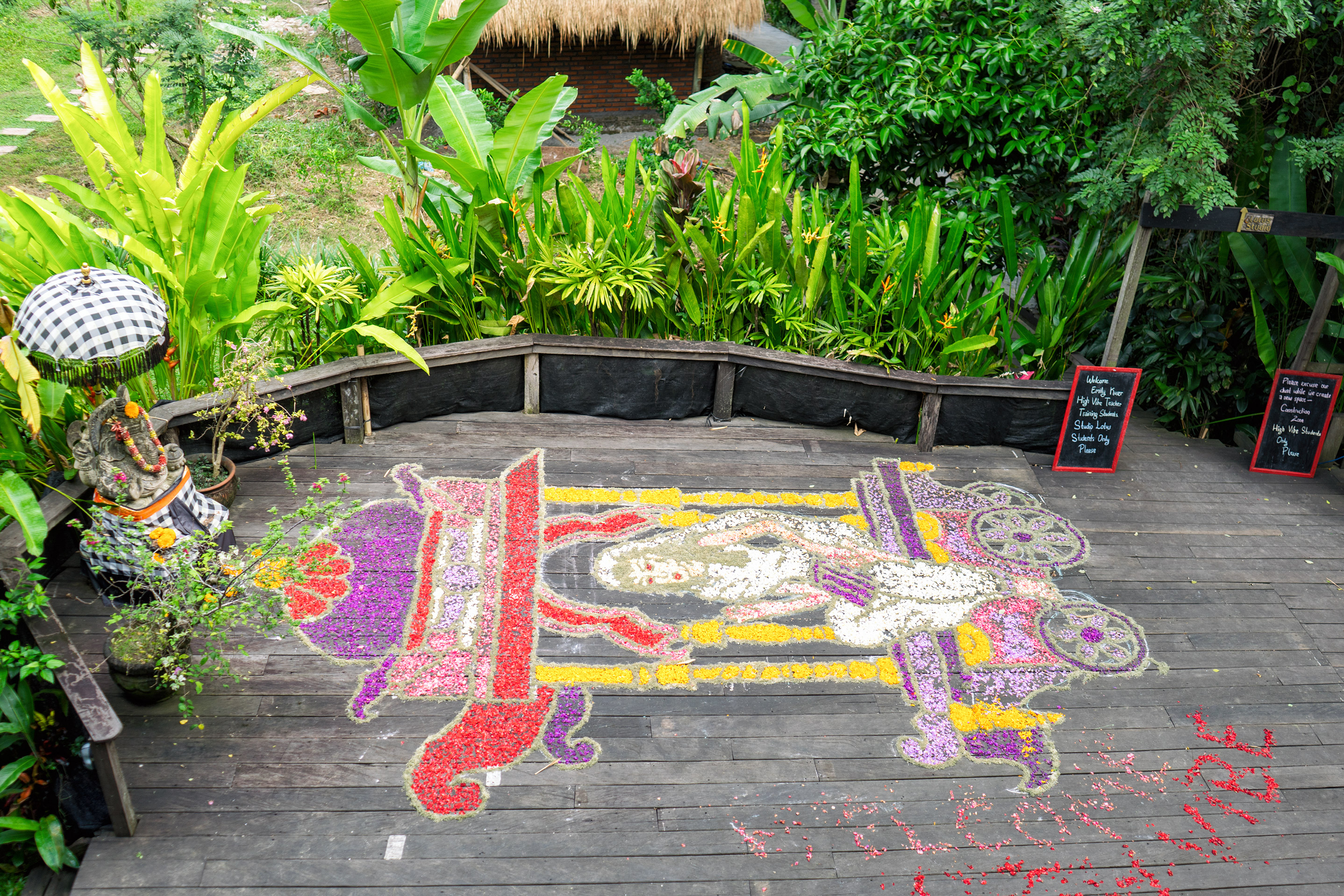 Bali Ubud Yoga Barn View From Second Floor