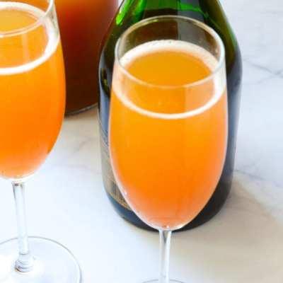 Sparkling Apple Brandy Cocktail