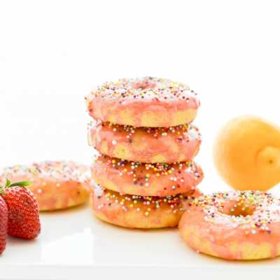 Baked Strawberry Lemon Donuts