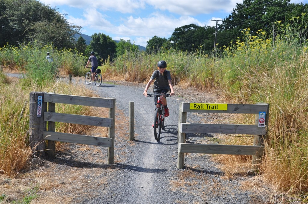 The trail entrance at Paeroa
