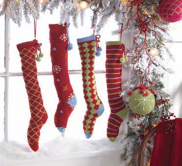 stockings hanging in a window