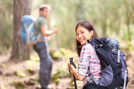 Active date ideas of couple hiking together.