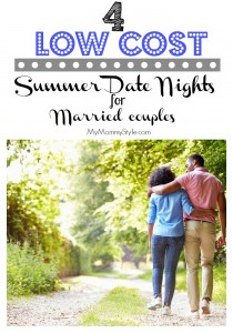 4 low cost Summer Date Nights for married couples, mymommystyle.com, date nights, summer, buget, date nights, easy dates,
