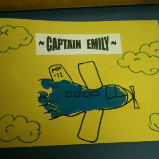 airplane painted footprint
