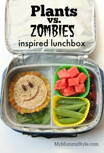 plants vs zombies inspired lunchbox
