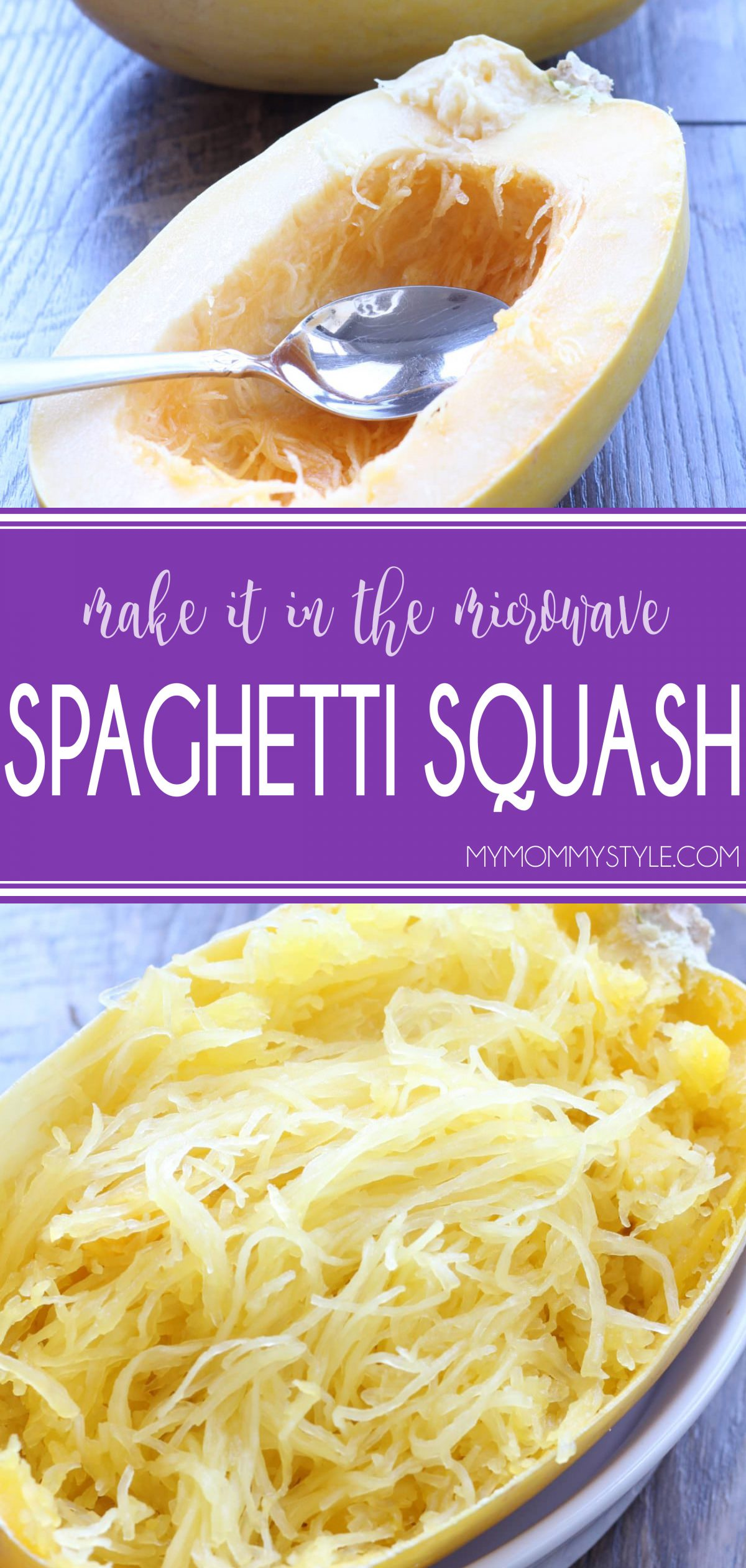 Make tender, healthy spaghetti squash quickly in the microwave. via @mymommystyle
