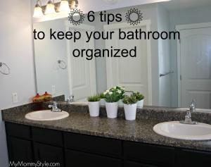 bathroom organization, bathroom, morning routine