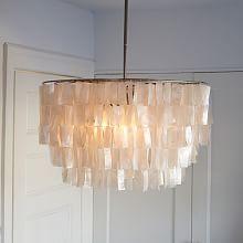 chandelier, west elm, light