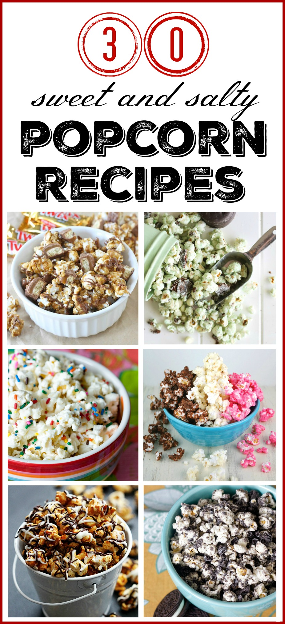30 Sweet and Salty Popcorn Recipes to Try.  via @mymommystyle