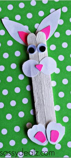 bunny popsicle stick craft