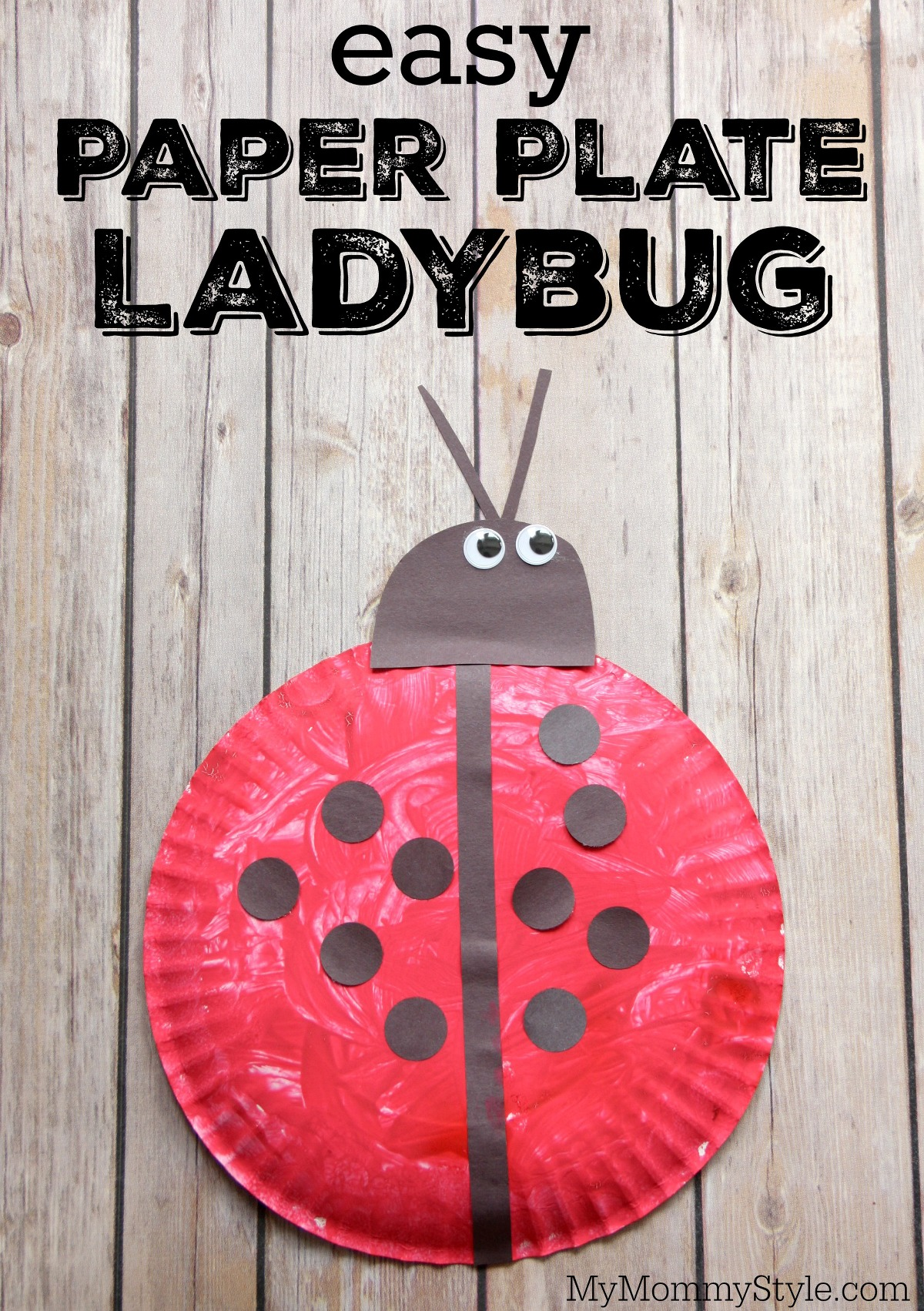 Easy Paper Plate Ladybug Craft