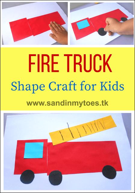 fire truck shape craft