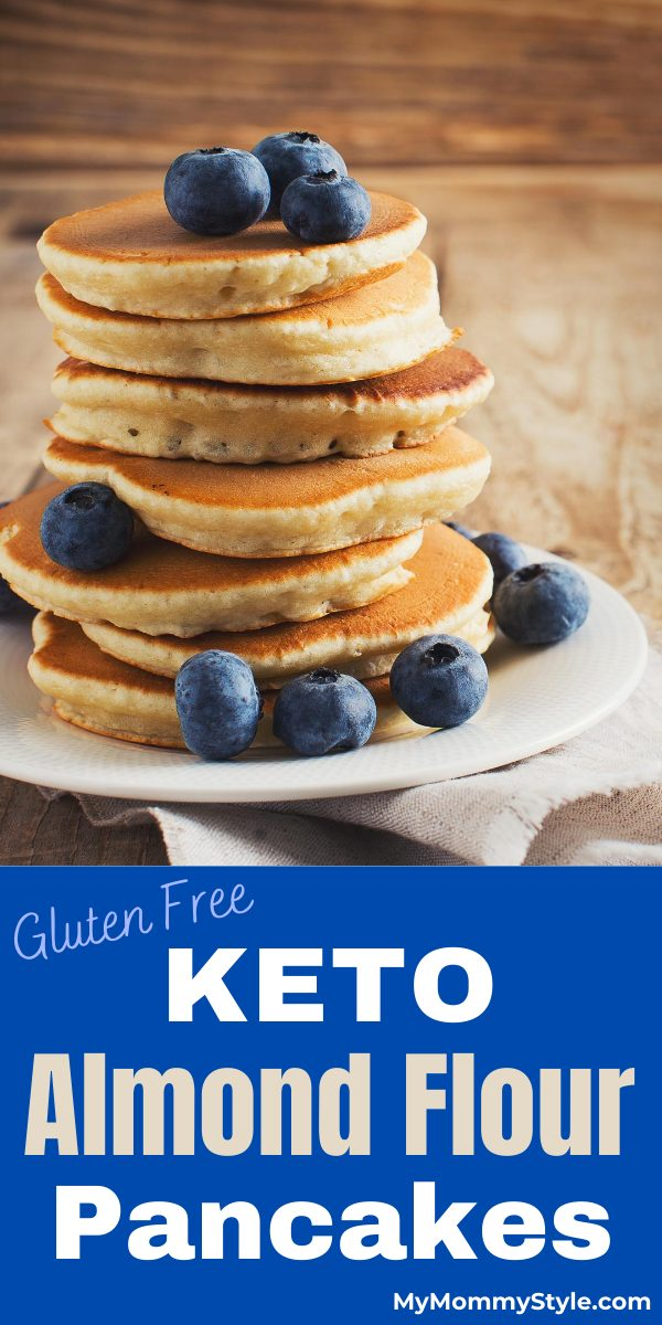 These keto almond flour pancakes are light and fluffy. They are easy to make, gluten free and will help keep your goals in check. via @mymommystyle