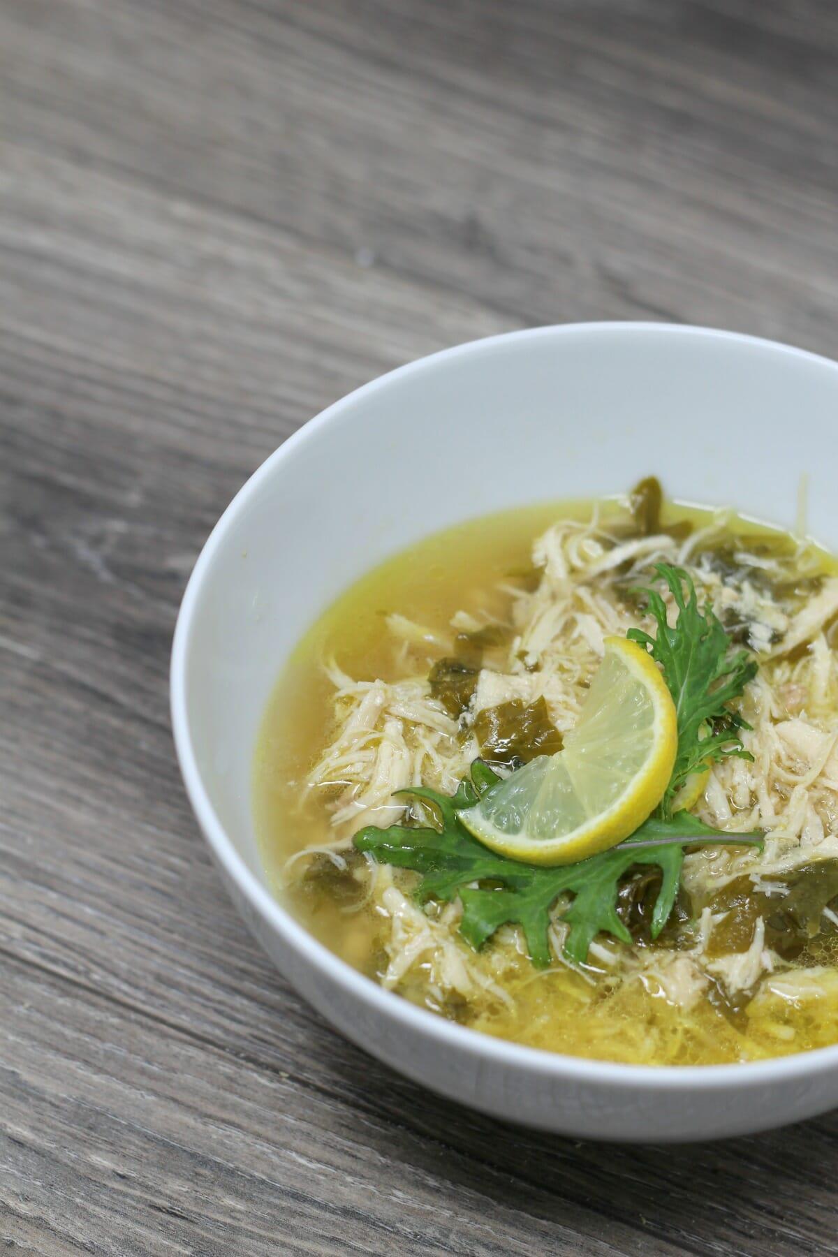 Instant Pot Lemon Kale Chicken Soup