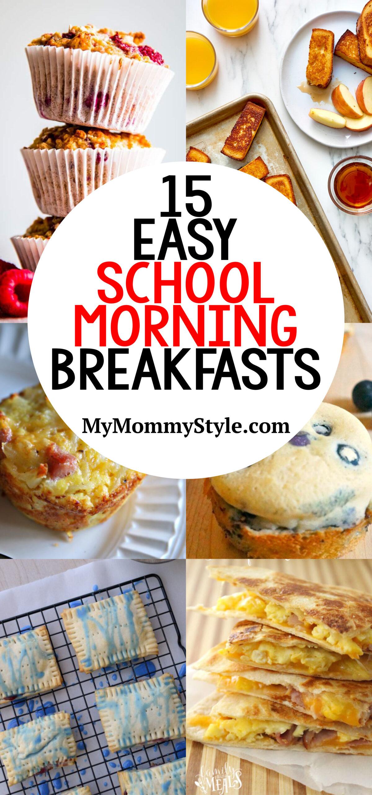 easy school morning breakfast ideas via @mymommystyle