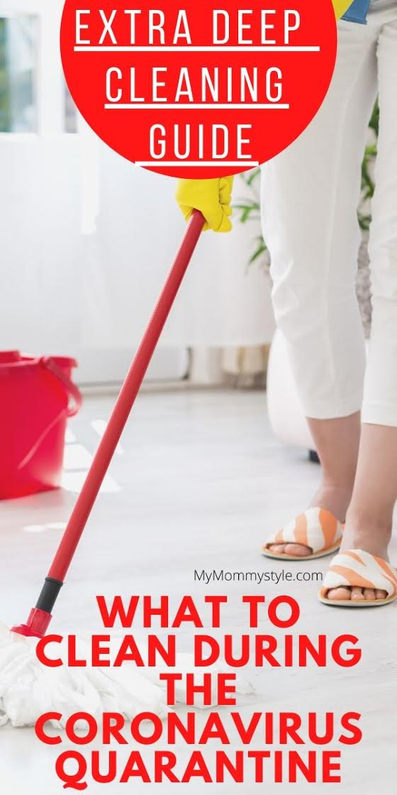 Being quarantined at home with this Coronavirus quarantine is the perfect time to get stuff done. No virus stands a chance with this extra deep cleaning guide. #coronavirus via @mymommystyle
