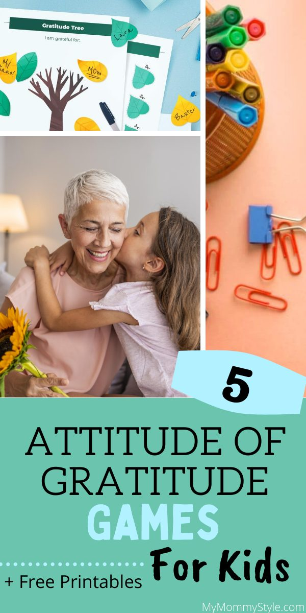 Playing these five attitude of gratitude games with our kids will help them appreciate the little things and be thankful for loved ones. #attitudeofgratitude #gratitudegame via @mymommystyle
