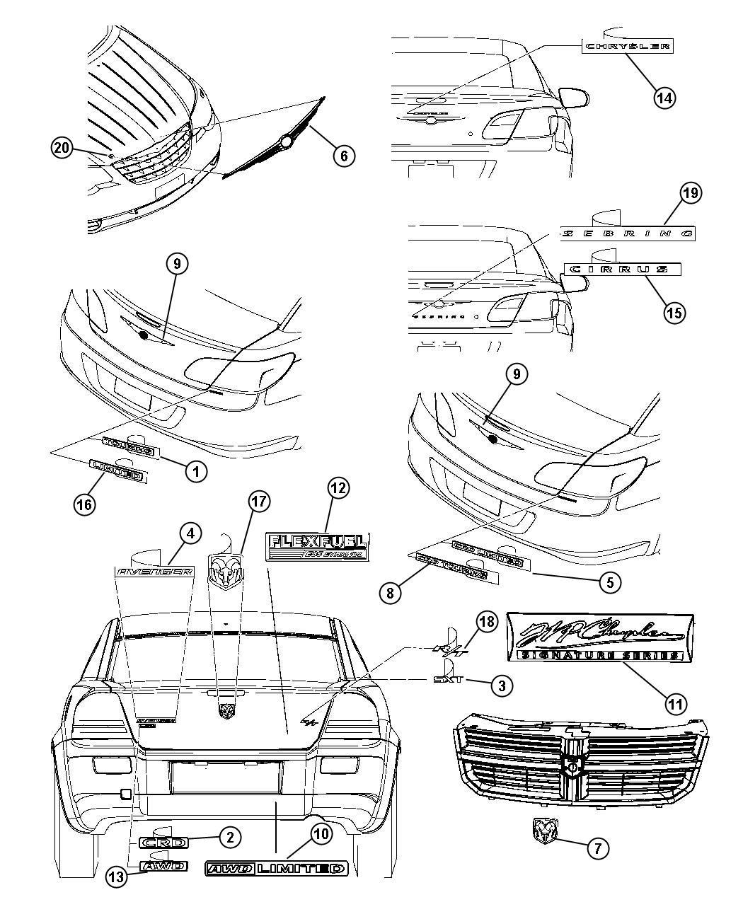 Chrysler Sebring Nameplate Chrysler Chrysler