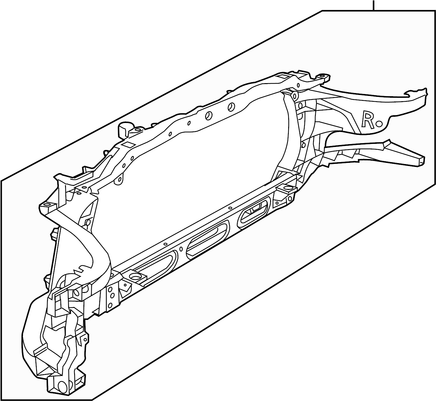 Ram Panel Radiator Closure Radiator Support