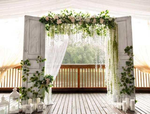 çiftlik evi şık düğün dekorasyon fikirleri