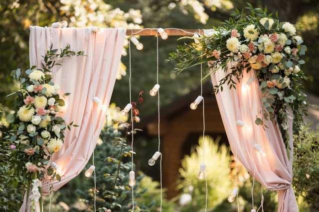 açık hava düğün dekoru