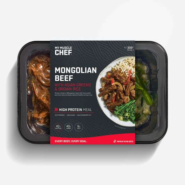 Calories in My Muscle Chef Mongolian Beef