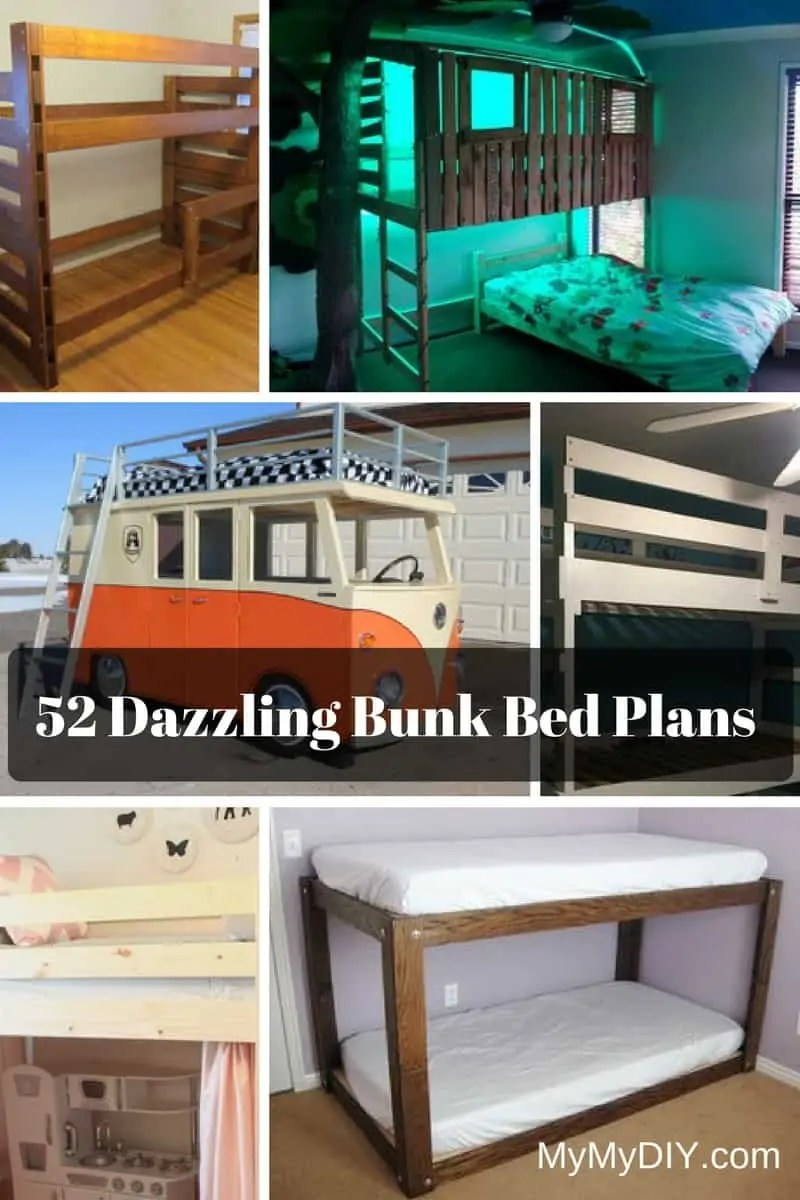 52 Awesome Diy Bunk Bed Plans Free Mymydiy Inspiring Diy Projects
