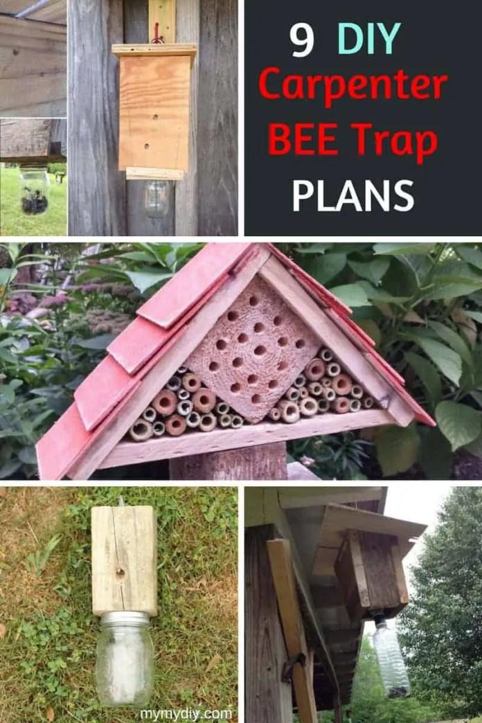 9 Diy Carpenter Bee Trap Plans Free List Mymydiy Inspiring Diy Projects
