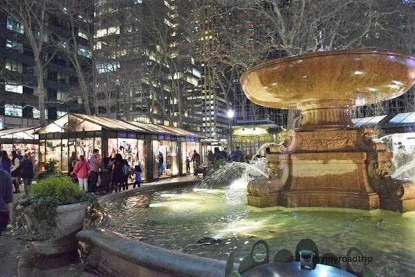 marché de noel à new york bryant park