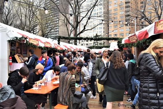 marché de noel à new york columbus circle