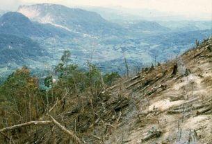 FSB Airborne met zicht op de A Shau vallei, 1969