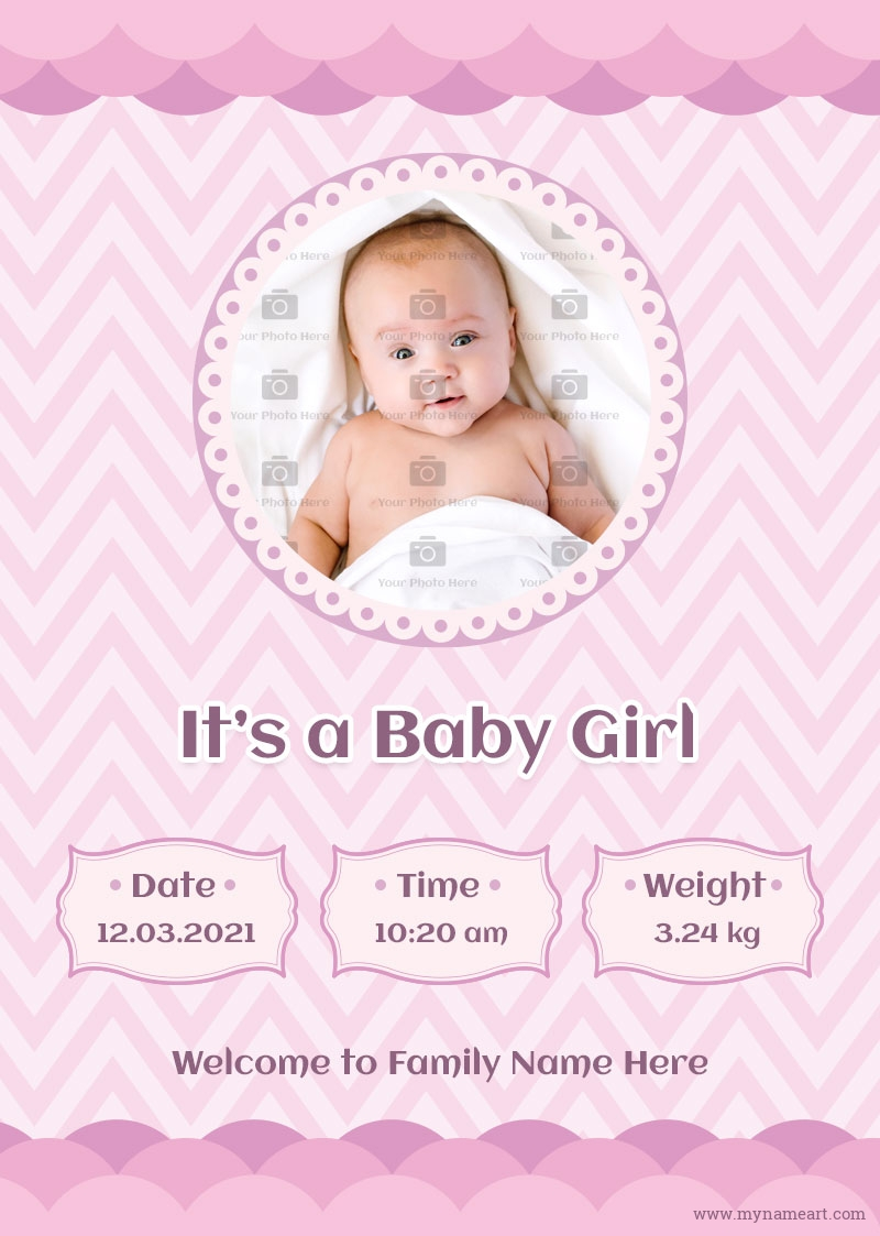 We have the best collection of professional templates, charts,. Baby Birth Announcement Templates
