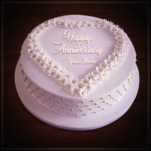 Top 100 Wedding Anniversary Cake Images With Name Edit