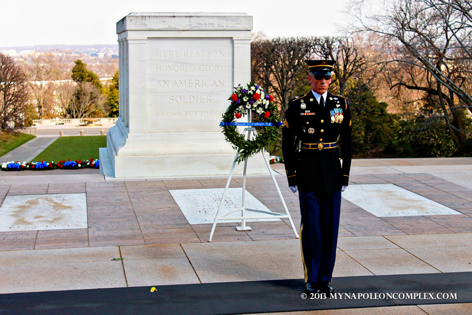 Tomb of the Unknown Soldier, Arlington Cemetery.