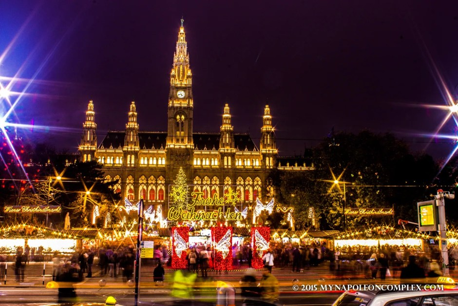Picture of Rathaus Christmas Market in Vienna.