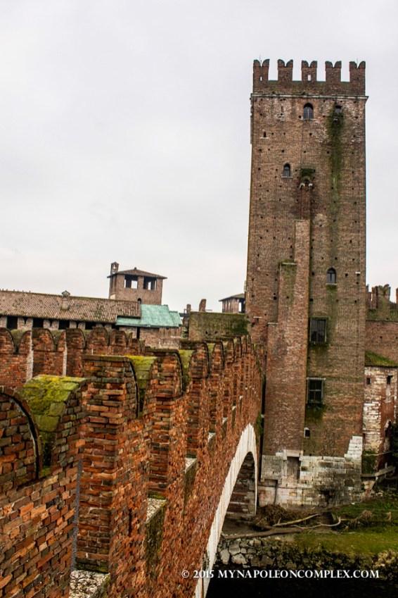 Picture of Ponte Scaligero, Verona, Italy.
