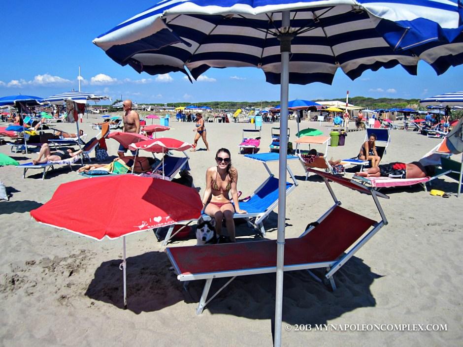Picture of Bau Beach near Rome, Italy