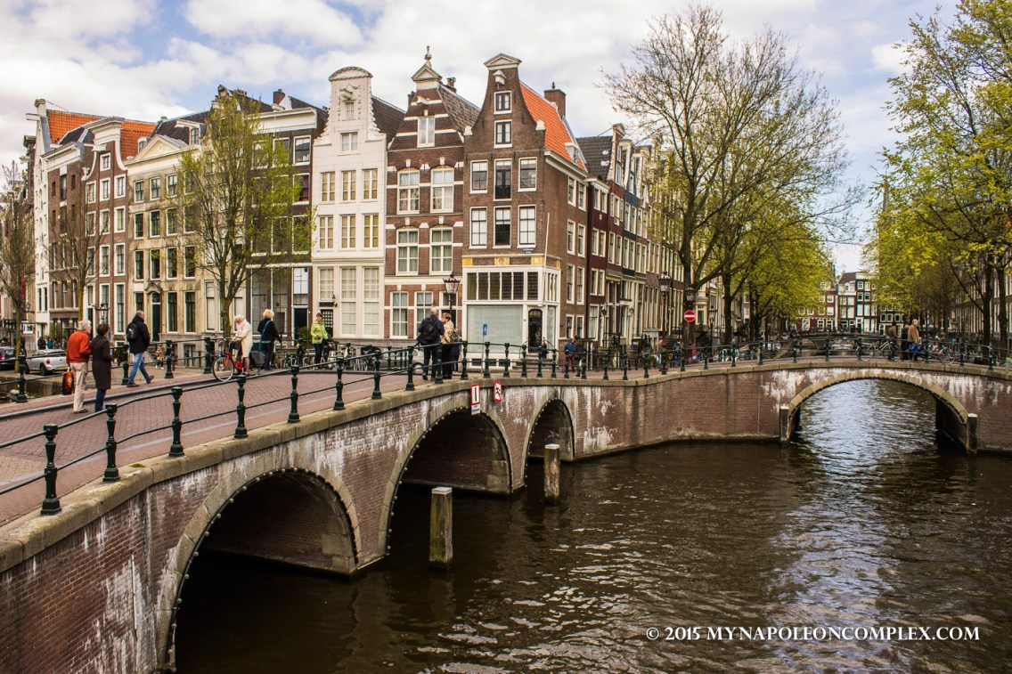 Picture of canal houses in Amsterdam.