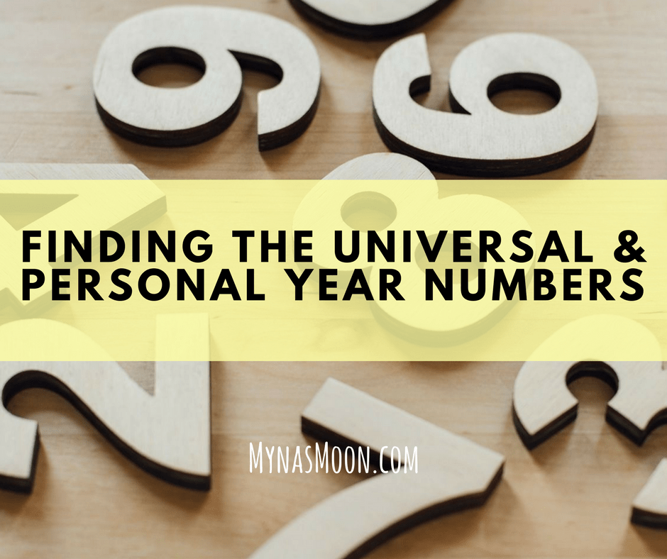Finding the Universal and Personal Year Numbers