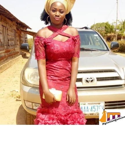 short lace gown styles in Nigeria