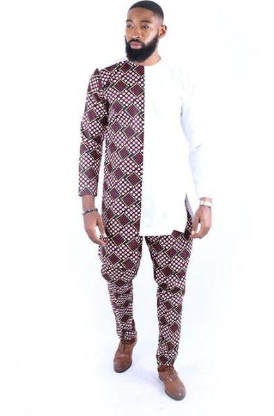 Ankara Plain and Pattern Style For Men