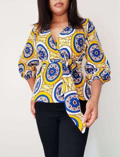 ankara wrap top styles