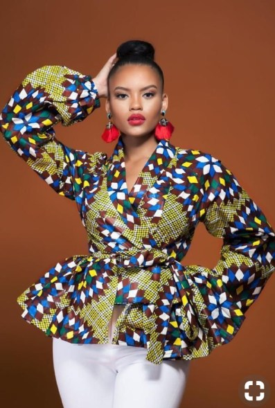 best ankara peplum wrap top