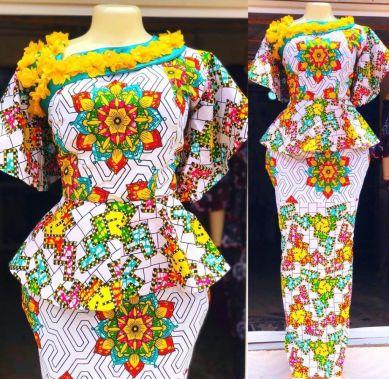 latest ankara skirt and blouse