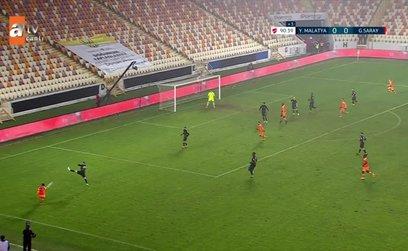 İşte Galatasaray'ın Yeni Malatyaspor maçında penaltı beklediği pozisyon