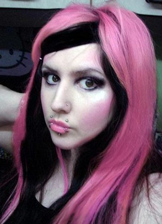 Black And Pink Hair My New Hair