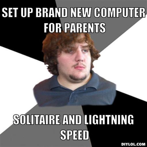 FTSG meme-solitaire at lightnight speed