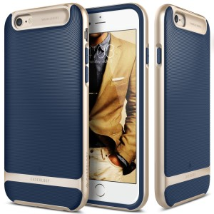iPhone 6S case, Caseology® [Wavelength Series] [Navy Blue] Textured Pattern Grip Cover [Shock Proof] for Apple iPhone 6S (2015) & iPhone 6 (2014)
